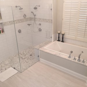 Extra Clear Shower Glass Multiple Shower Heads Southern Concepts Contracting