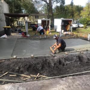 Concrete Slab Pour Day 1