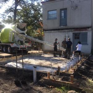 Concrete Slab Pour Day 5